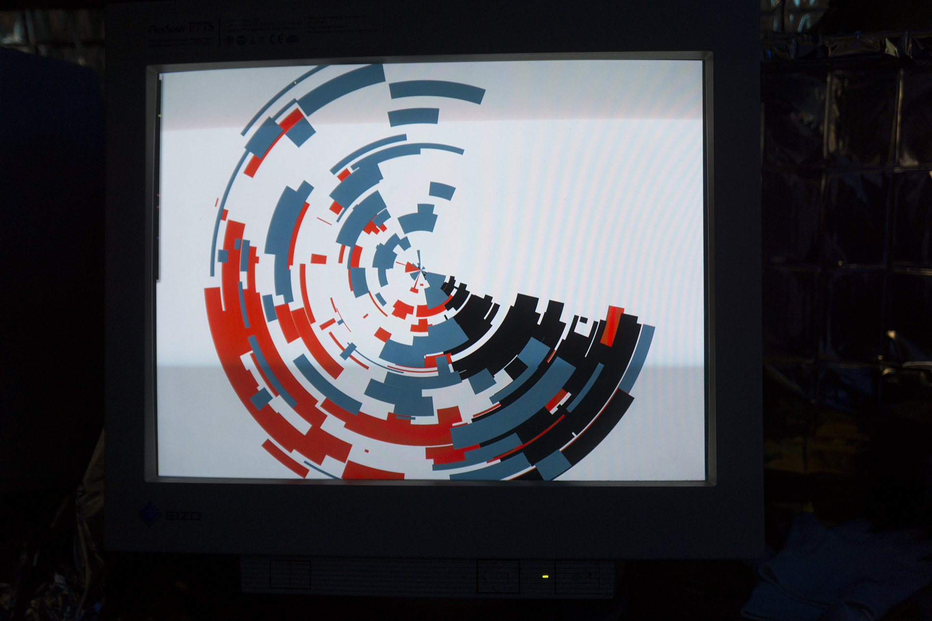 Shapes of mine - interactiv generative art installation by Dominik Jais