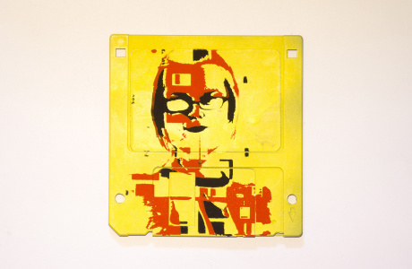 "silk screened 3.5"" floppy disk - artwork - Lumia II"