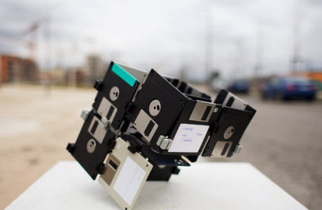 Dube, Floppy Disc sculpture by Dominik Jais