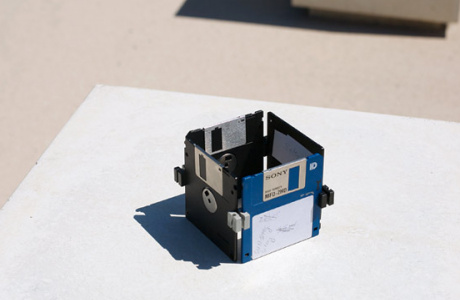Isolation, Floppy Disc sculpture by Dominik Jais