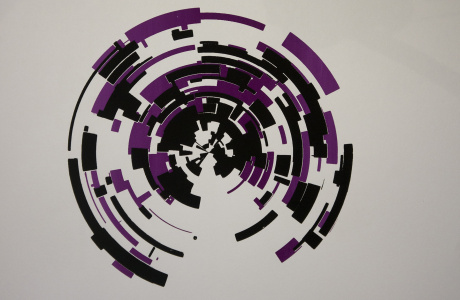 Circle IV - are you here series - contemporary art by Dominik Jais