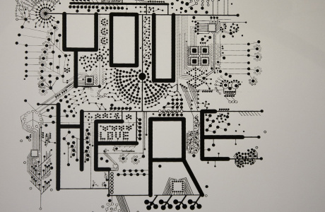are you here? series by dominik Jais - pcb styled print on paper