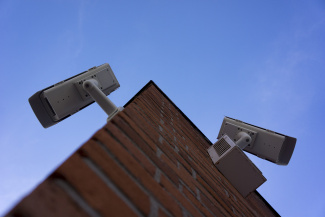 Surveillance cams at a church in Essen